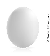 close up of an egg on a white background
