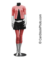 clothing on mannequin