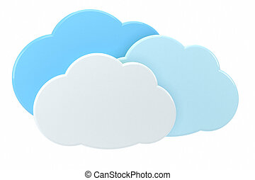 3d cloud icons - high quality 3d illustration
