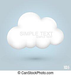 Cloud glossy icon art creative. Vector illustration