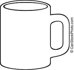 coffee mug (white cup)