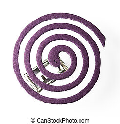 Coil of Mosquito-Repellent with Lavender Fragrance