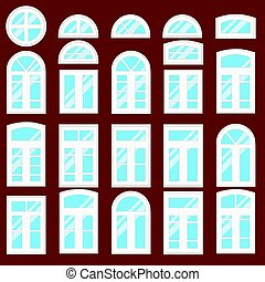 Collection of various windows types.