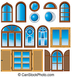 vector illustration of different windows