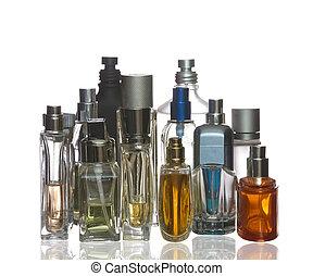 Colorful perfume bottles
