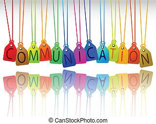 communication tags, abstract art illustration