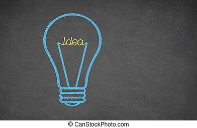 Concept - idea light bulb