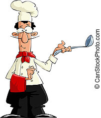 Cook on a white background, vector illustration