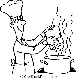 Cook making a meal