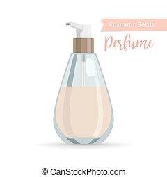 Cosmetics bottle for perfume