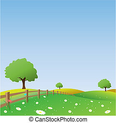 A Vector Landscape with Fence