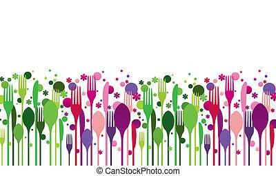 Creative food vector illustration