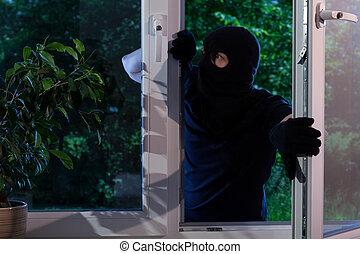 Criminal robs the house