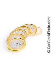 crisis of eurozone, six euro coins