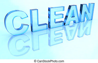 Crystal clean sign