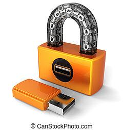 Data security. Digital Usb lock