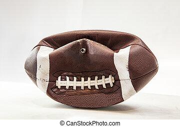 A deflated football.