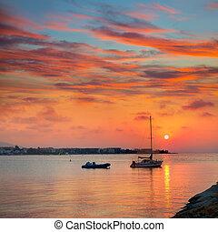 Denia beach sunset Mediterranean Alicante Spain