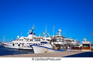Denia marina Port in Alicante Spain Mediterranean