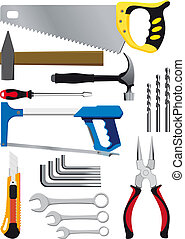 different set of hand tools