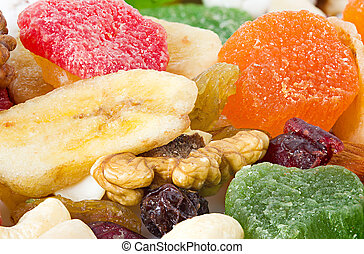 Dried fruits. Background