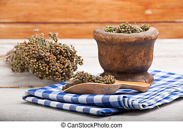 Dried oregano herb