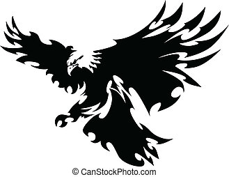 Graphic Mascot Image of a Flying Eagle