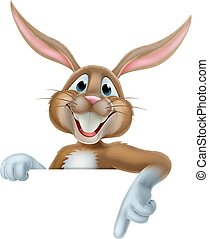 Easter Bunny Pointing