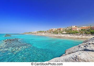 El Duque beach Tenerife Spain at summer