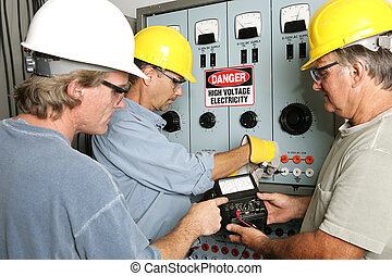 Electricians on High Voltage