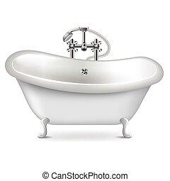 Empty bath isolated on white vector
