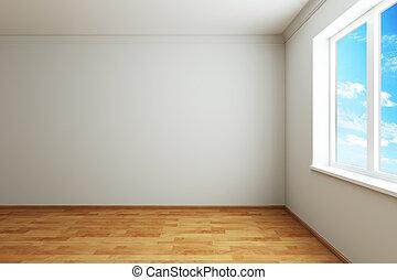 empty new room with window