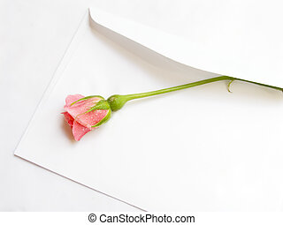 Envelope with a rose