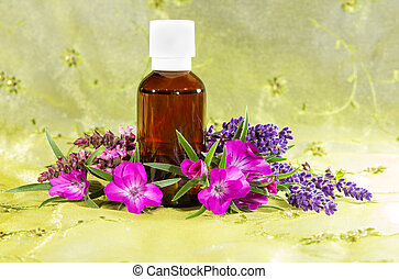 Essential oil with lavender and sidalcea