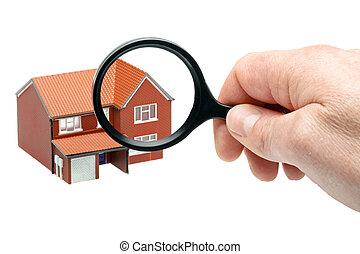 Examining a house