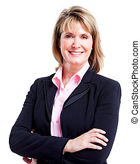 Executive business woman. Isolated over white background