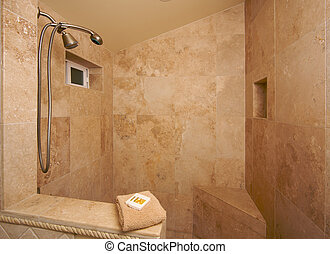 Exotic Marble Shower