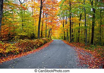 Romantic getaway in autumn