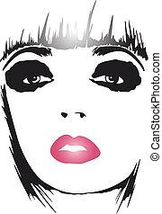 fashion woman pop art poster
