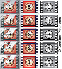 Film countdowns (vector)