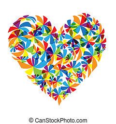Floral heart shape design
