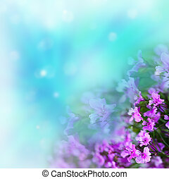Flowers on abstract background