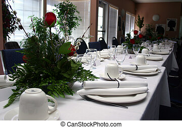 A High-Res photo of a formal banquet.