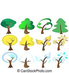 Four Seasons Tree Icons