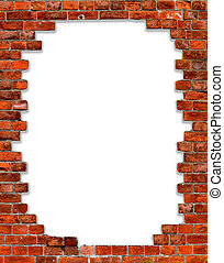 frame with brick