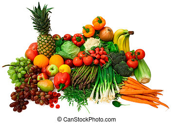 This is a wide variety of fresh vegetables and fruits.