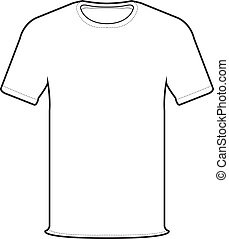 front side of white t-shirt isolate on white