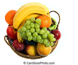 Fruit basket from above