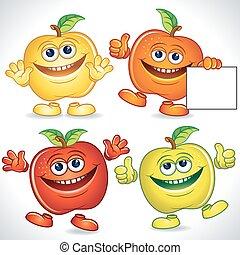Funny Apples Cartoon