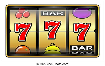 Casino slot machine, jackpot, wealth, luck and success concept